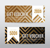 Christmas Gift Voucher Coupon Discount, Background abstract, Vector illustration