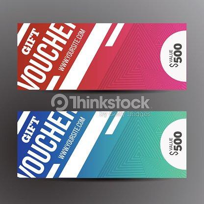 Gift Voucher Template Set Two Gift Cards Design Vector Art | Thinkstock