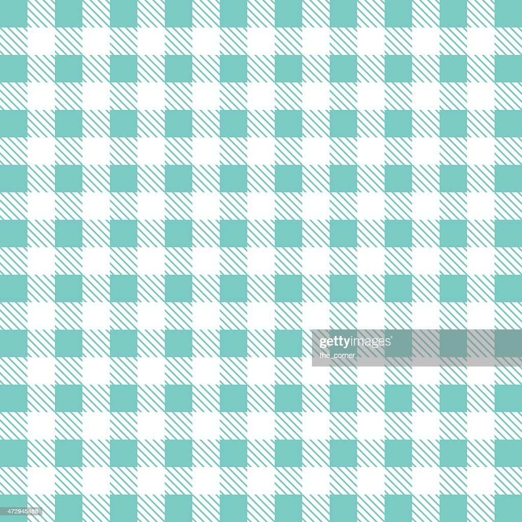 Gingham Tablecloth Pattern Background. Vintage Vector Pattern. : Vector Art