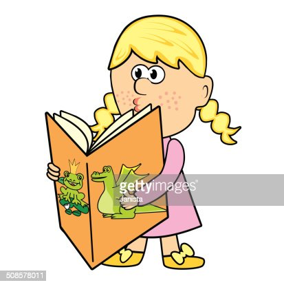 Girl and book : Vectorkunst