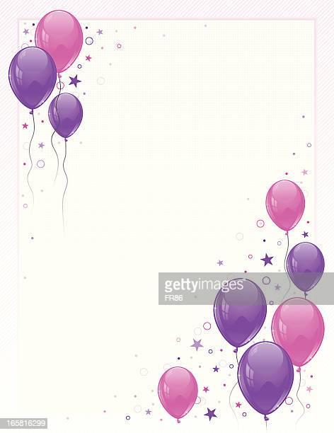 Mädchen Luftballons Party