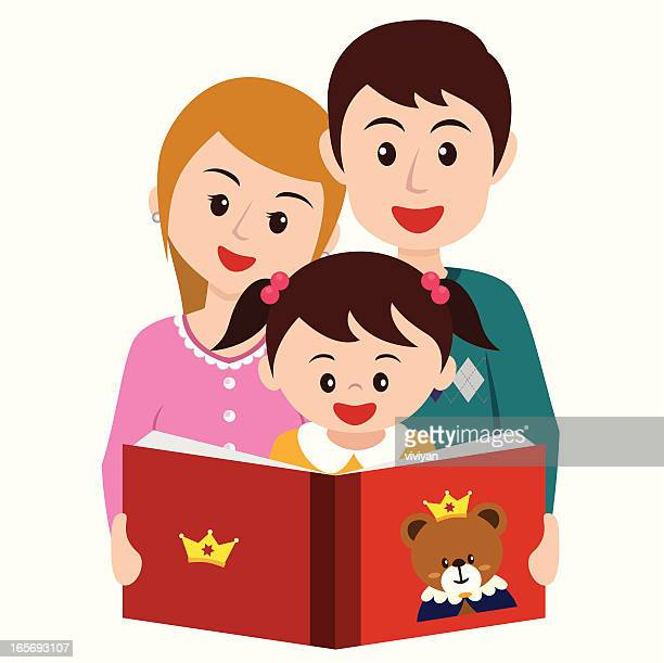 mom and kid reading cartoon stock illustrations and Reading Together Clip Art Reading in Bed Clip Art