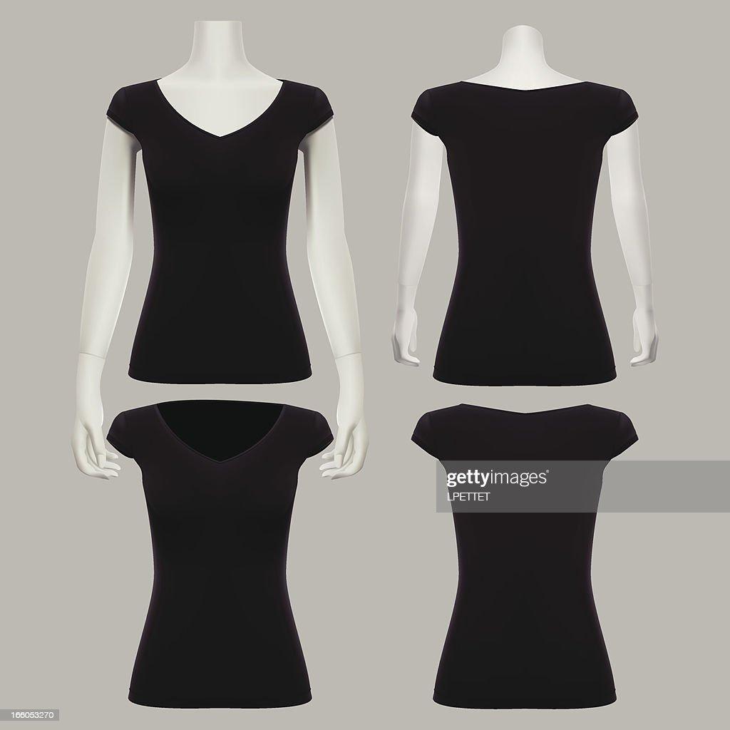 Girl T-Shirt Template - Vector Illustration : Vector Art
