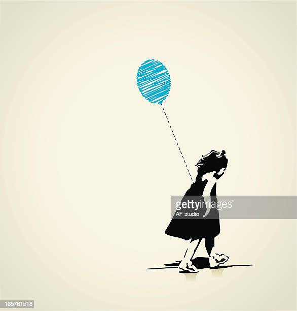 Girl with blue balloon