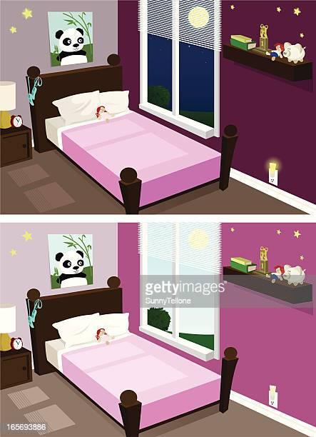 illustrations et dessins anim s de chambre bien rang e getty images. Black Bedroom Furniture Sets. Home Design Ideas