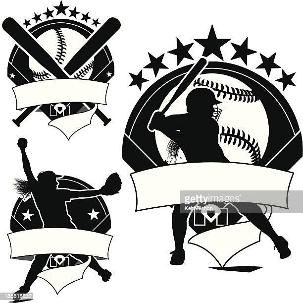 Softball Player Vector Art And Graphics | Getty Images