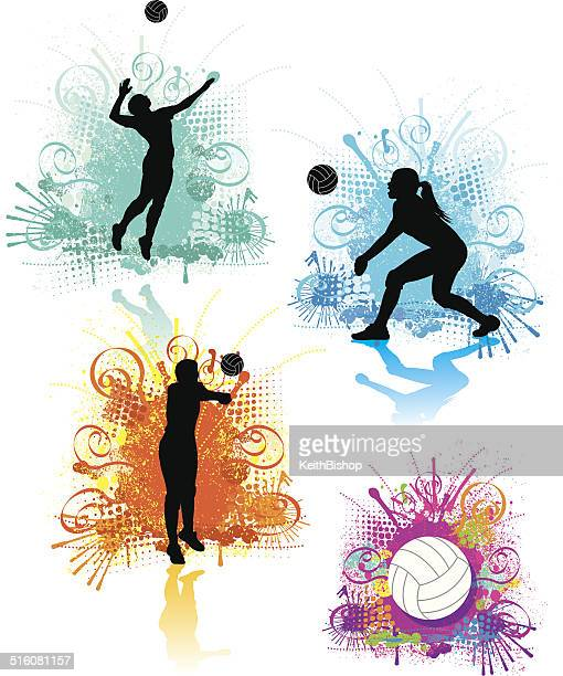 Girls Volleyball Graphics