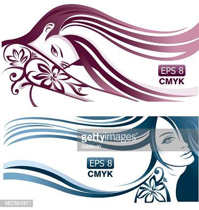 Девушка волосы вектор