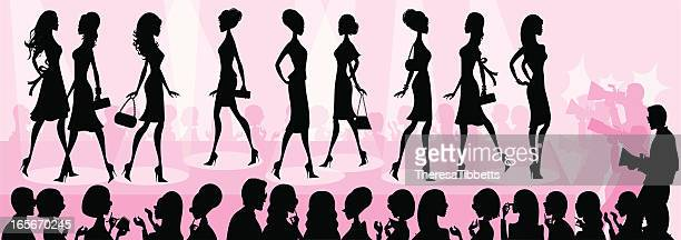 Girly Fashion Show Silhouette