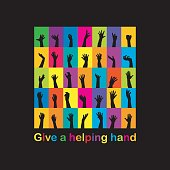 Give a helping hand concept