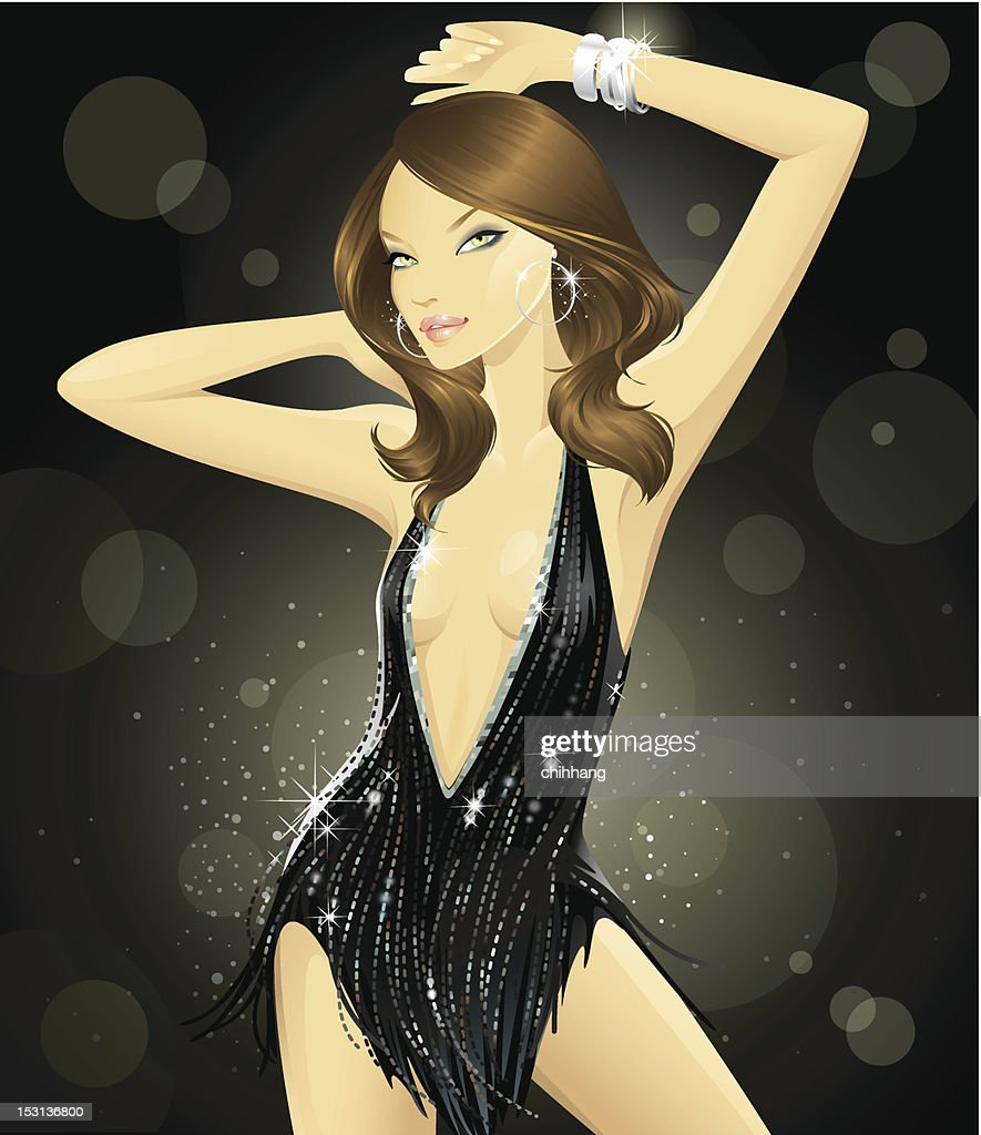 Glam Goddess (Brunette) : Vector Art