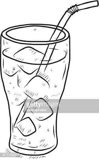 Glass of cool water vector art