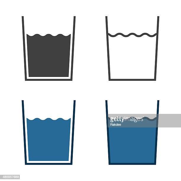 Glas Wasser-Symbol