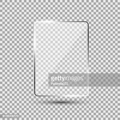 Plaque de verre sur fond transparent : clipart vectoriel