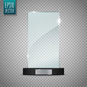 Glass Trophy Award. Vector illustration isolated on transparent background for your artwork