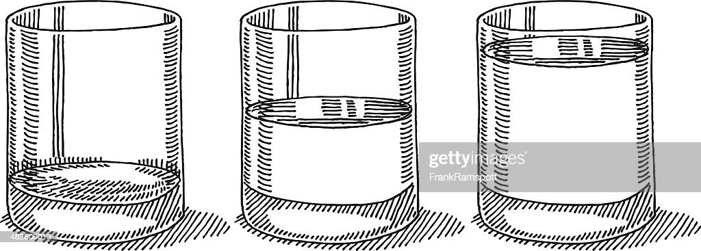 verre de leau moiti vide de dessin complet clipart vectoriel getty images. Black Bedroom Furniture Sets. Home Design Ideas