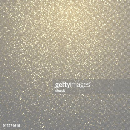Glitter gold particles light shine effect on transparent vector background. Sparkling gold glitter particles effect, golden glittering space star dust : stock vector