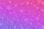 Glitter horizontal texture with pink violet color effect, vector