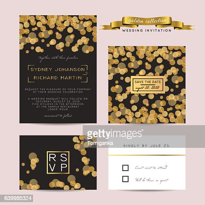 glitter invitation : Vector Art