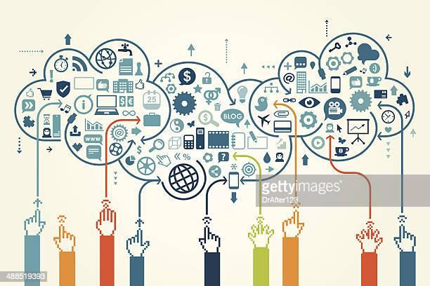 Globale Kommunikation Konzept