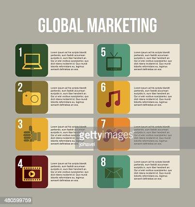 global marketing : Vector Art