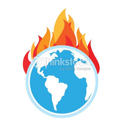 Global Warming Fire On Earth Vector Art Thinkstock