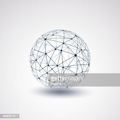 Globe Design-Netzwerke : Vektorgrafik