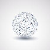 Abstract Transparent Globe Design Illustration in Editable Vector Format