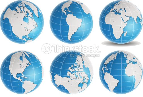 Globe earth world map vector set vector art thinkstock globe earth world map vector set vector art gumiabroncs Image collections