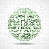 Ball, Globe, Binary Code, Planet, Data, Zero