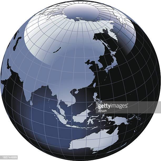 Globe of the World. Asia and Australia