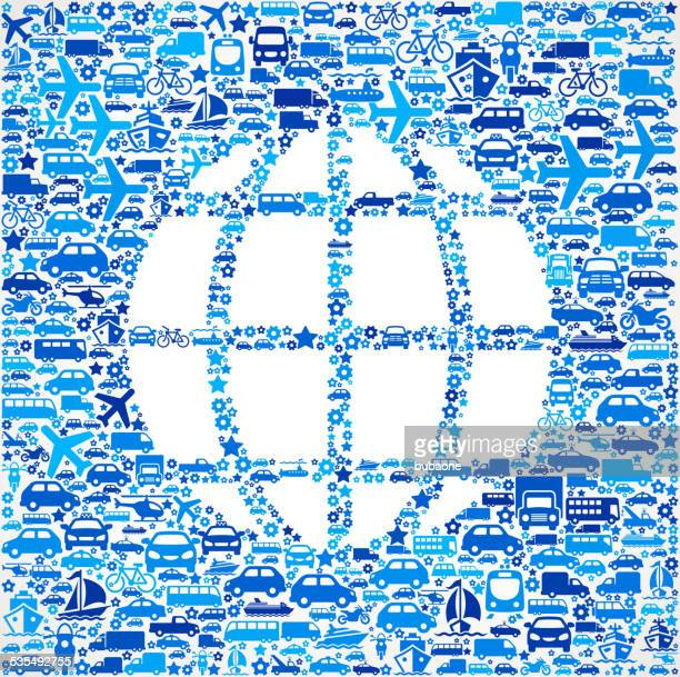 Globe On Transportation royalty free vector art Pattern