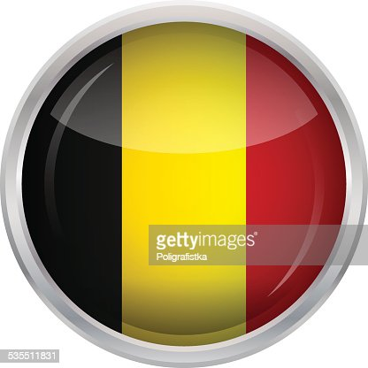 Bouton brillant de drapeau de belgique clipart vectoriel - Bouton de liege ...