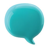 glossy speech bubble vector illustration