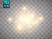 Glow light effect. Vector illustration. Christmas flash Concept
