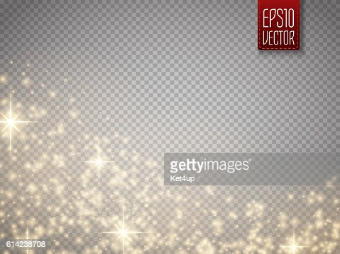 Glow special effect light, flare, star and burst. Isolated spark : Vector Art