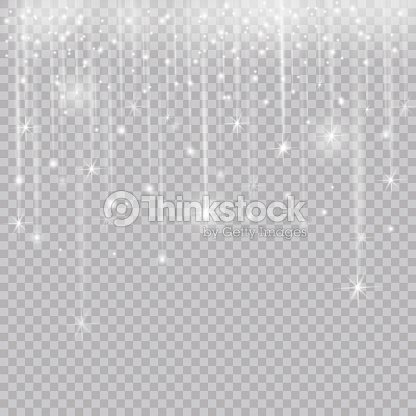 Glowing Glitter Light Effects Isolated Realistic Christmas