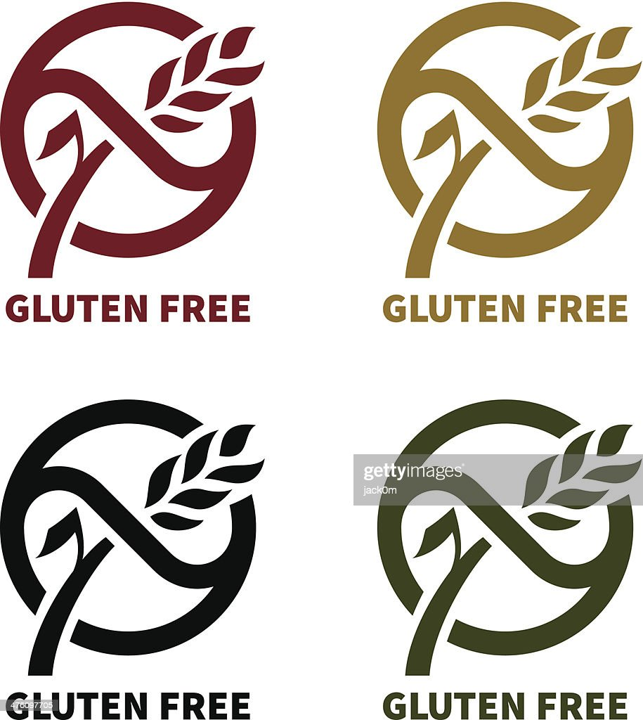 gluten free logo vector art getty images