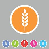 Gluten free vector icon flat web sign symbol logo label set