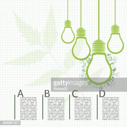 Go green concept. Save world vector Illustration : Vector Art