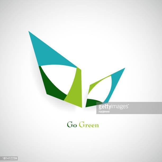 Go Green concept sign background