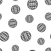 Go to web seamless pattern background icon. Business flat vector illustration. World network sign symbol pattern.