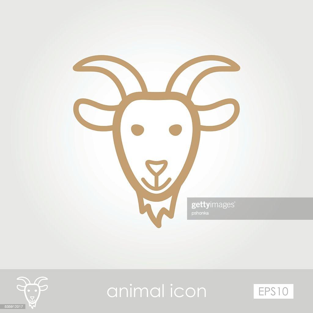 Goat icon : Vector Art