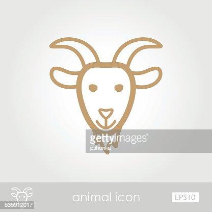 Icono de cabra : Arte vectorial