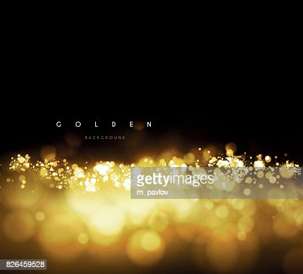 Gold background with bokeh : Vector Art