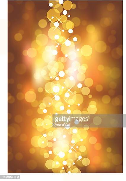 Gold Blurry Lights Background