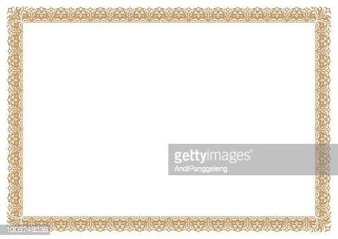 Gold Border for certificates : stock vector