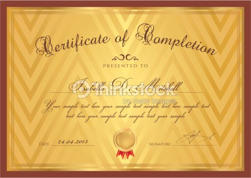 Gold certificate diploma template background design with pattern gold certificate diploma template background design with pattern border frame yelopaper Gallery