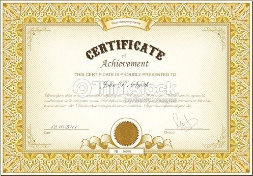 Gold Certificate Vector Art   Thinkstock