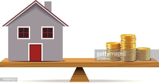 Gold Coins and Mortgage House